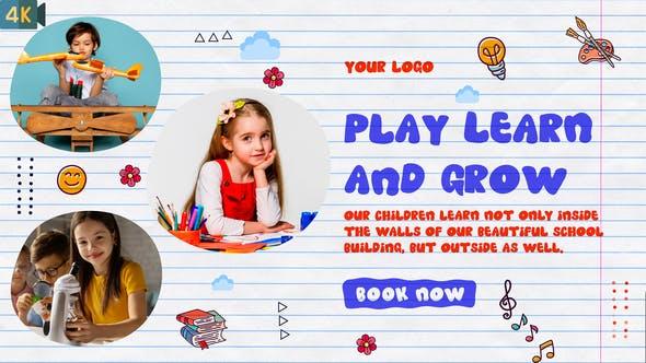 Videohive Kids Promo Kindergarten Slideshow 32985441