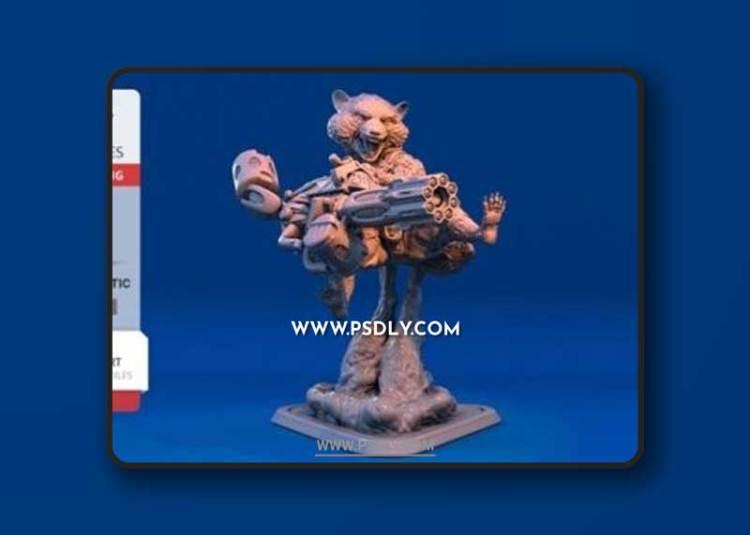 Rocket Raccoon – 3D Print Model