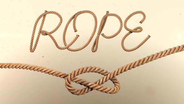 Videohive Animated Rope Text 12576250