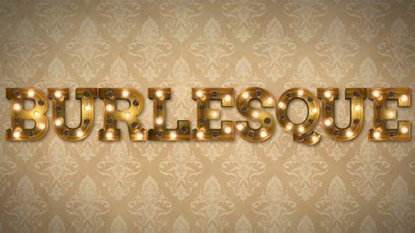 Videohive Burlesque Light Bulb Letters 19468356