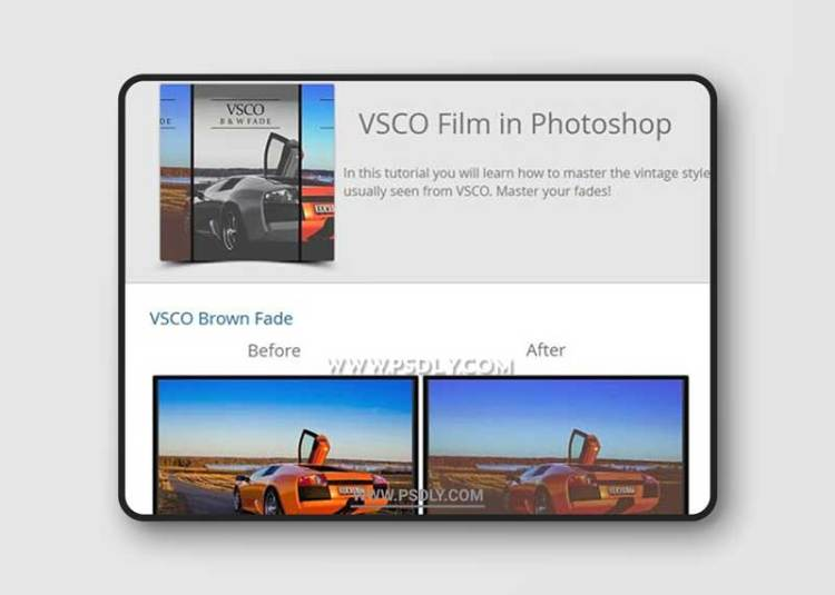 VSCO Film Actions for Photoshop