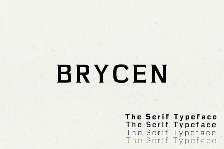 Brycen Serif Premium Font Family Fonts
