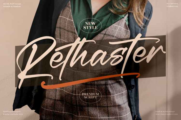 Rethaster Modern Handwritten Font