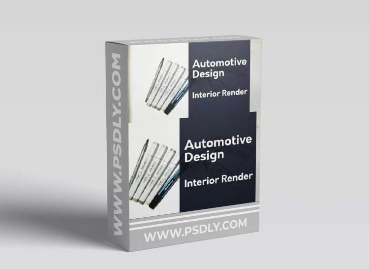 Automotive Design: Rendering the Interior of a Car ( Rendering Markers )