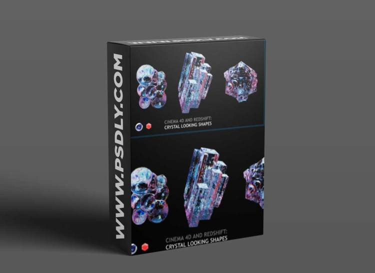 Cinema 4D and Redshift: Crystal Looking Shapes