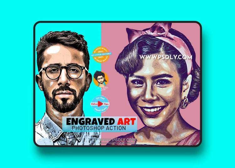 CreativeMarket - Engraved Art Effect 6407853