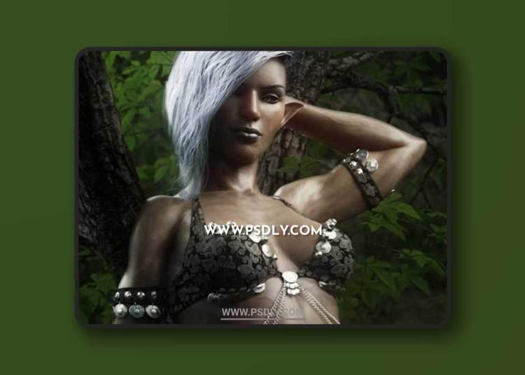 Dokkalfar the Dark Elf for Genesis 8 Female 3D Models