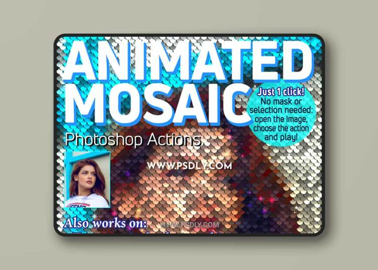 GraphicRiver - Animated Mosaic Photoshop Actions 23105461