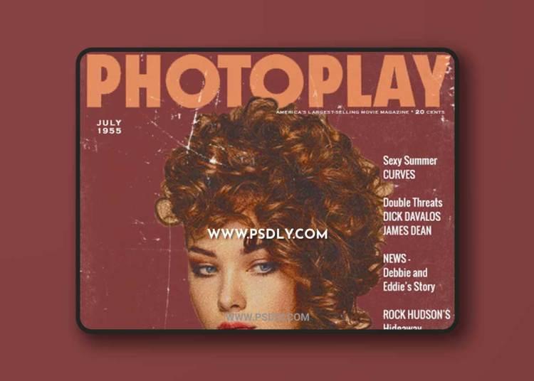 GraphicRiver - Vintage Movie Magazine Photoshop Action 23056477