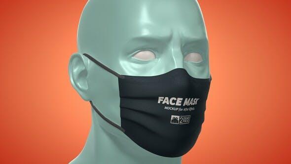 Videohive Face Mask Animated Mockup Template - Mockup Kit 33901966