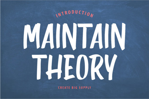Maintain Theory Font