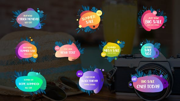 Videohive Summer Sale Titles || After Effects 33715536
