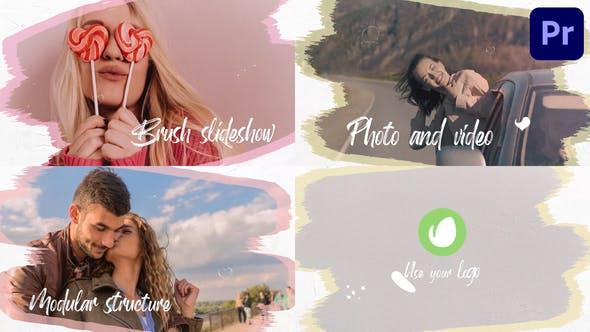 Videohive - Brush Slideshow   Premiere Pro MOGRT - 33670340