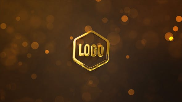 Videohive 3D Dark Gold Logo 33816536