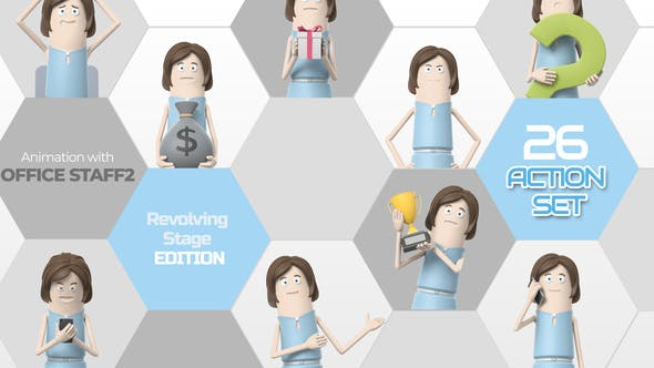 Videohive 26 Action Set Office Staff 2 33966245