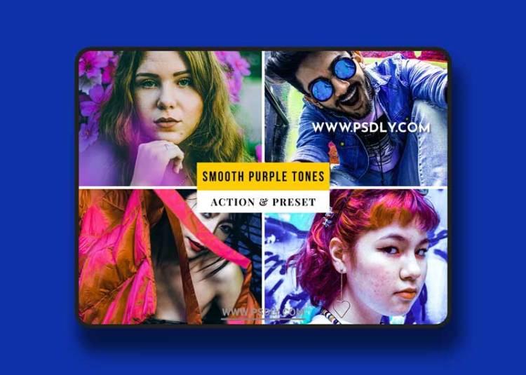 Smooth Purple Tones Action & Lightroom Preset