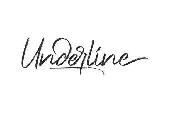 Underline Font