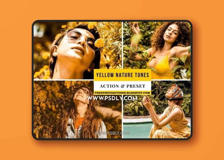 Yellow Nature Tones Action & Lightroom Preset