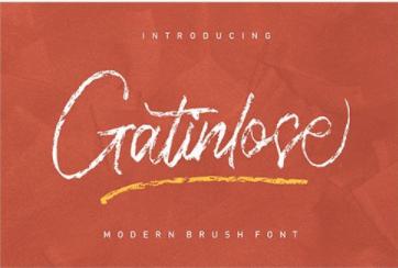 CM - Gatinlose Modern Brush Font 6472521