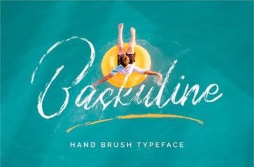 CM - Baskuline Hand Brush Typeface 6472485