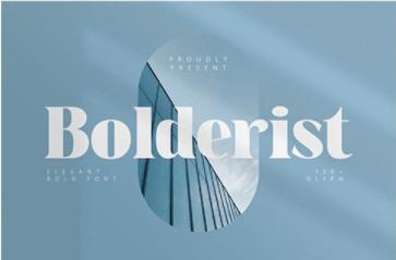 CM - Bolderist - Elegant Bold Font 6331089