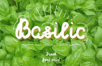Basilic & Basilic Shadow—a layered duo of aromatic fonts!