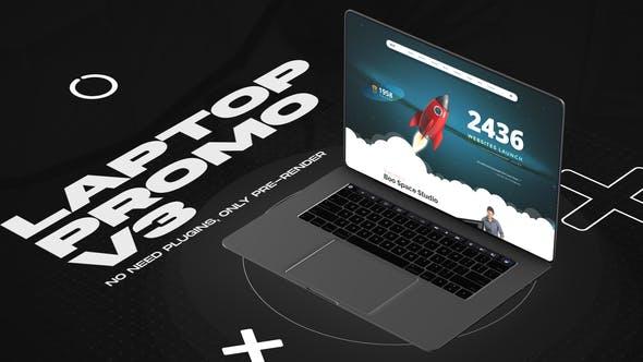Videohive Laptop website promo v3 33708077