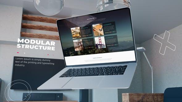 Videohive Premium laptop website promo 33772577