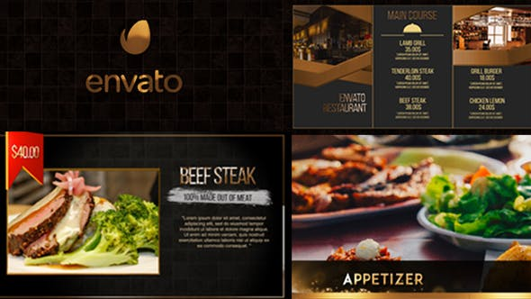 Videohive Exclusive Restaurant Digital Menu 20518518