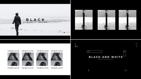 Videohive Black White Intro Show 33951185