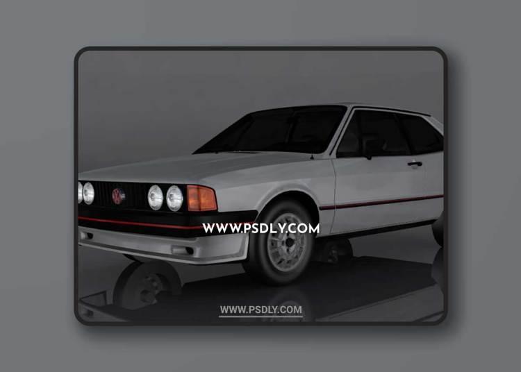 1981 Volkswagen Scirocco 3D Model o92879