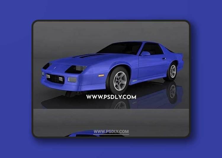 1990 Chevrolet Camaro 3D Model o93012