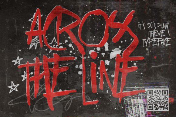 Across the Line Font