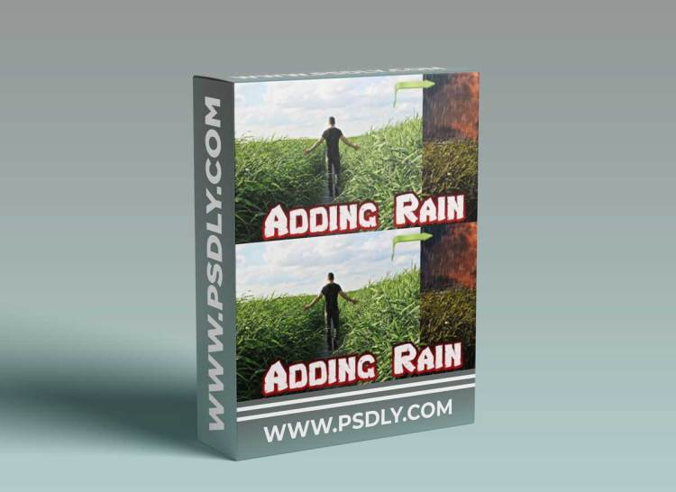 Add Rain and Stormy Cloud Effect in Picture using Photoshop Easy Steps