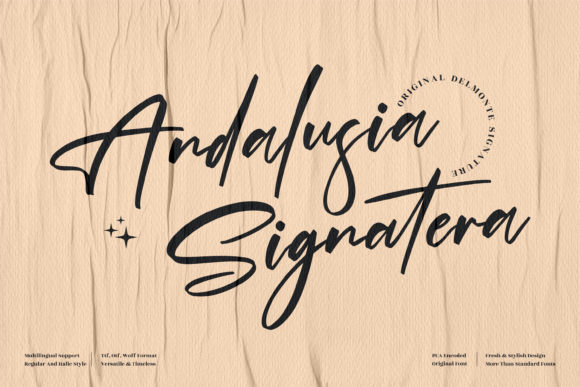 Andalusia Signatera Font