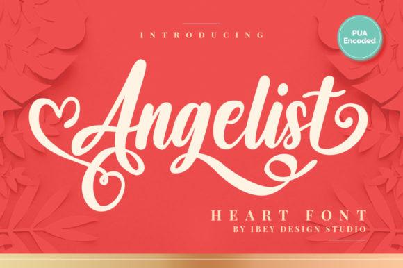 Angelist Heart Font