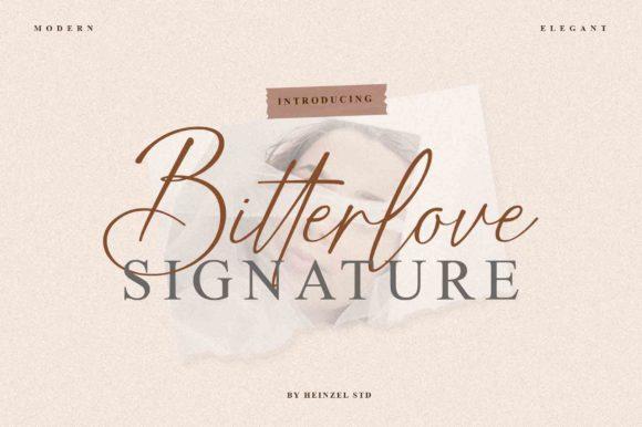 Bitterlove Signature Font
