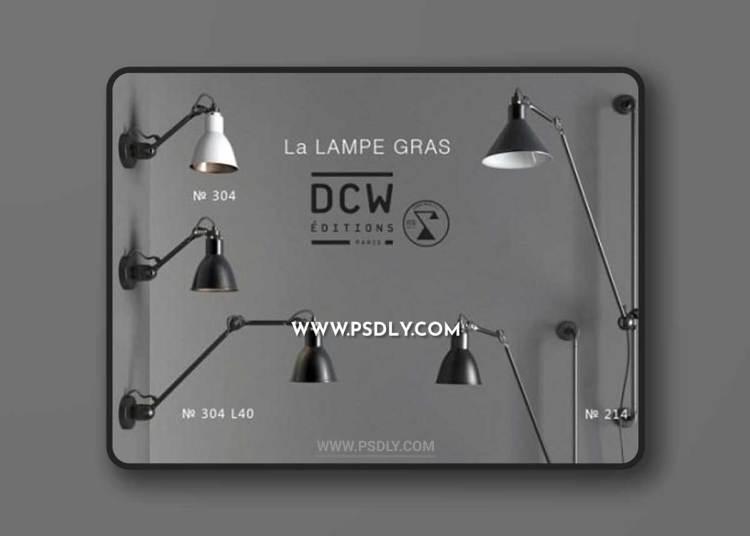 Bra Set & La Lampe GRAS 3d model