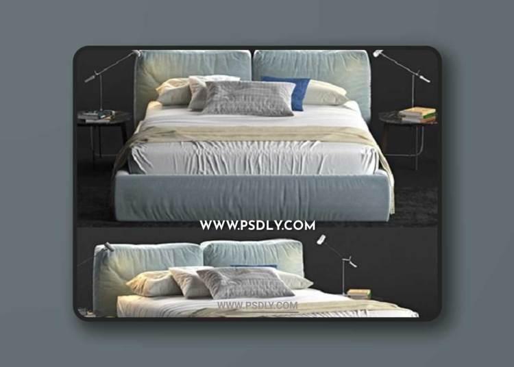 Brick Novamobili Bed 3D Models