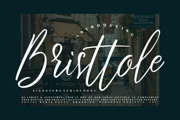 Bristtole Script Font