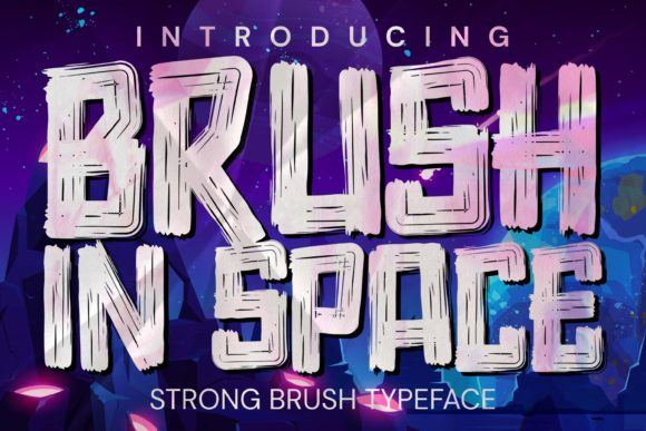 Brush in Space Font