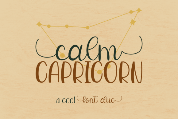 Calm Capricorn Duo Font