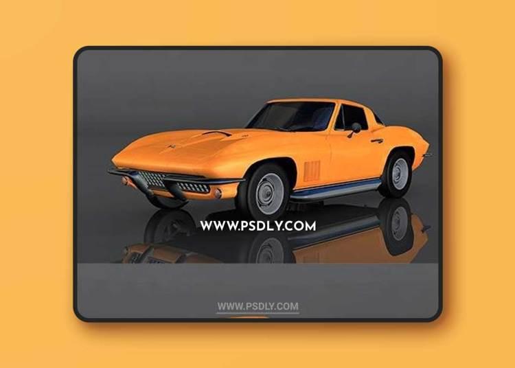 Chevrolet Corvette Sting Ray 3D Model o93580