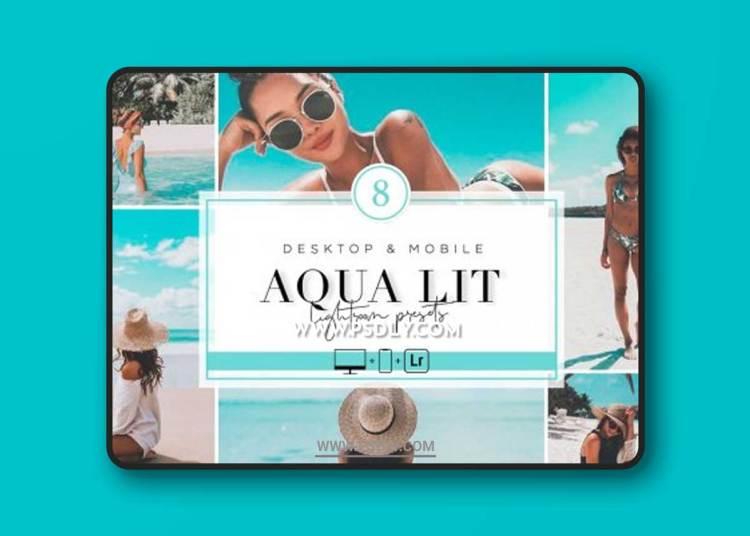 CreativeMarket - AQUA LIT - Lightroom Presets 6425031