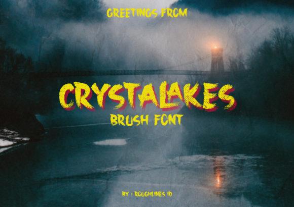 Crystalakes Brush Font