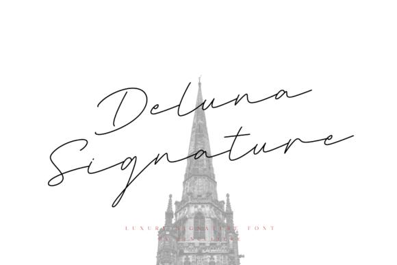 Deluna Signature Font