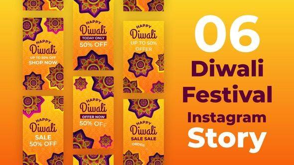 Videohive Diwali Festival Instagram Stories 34117786