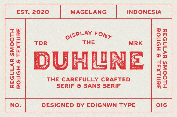 Duhline Font
