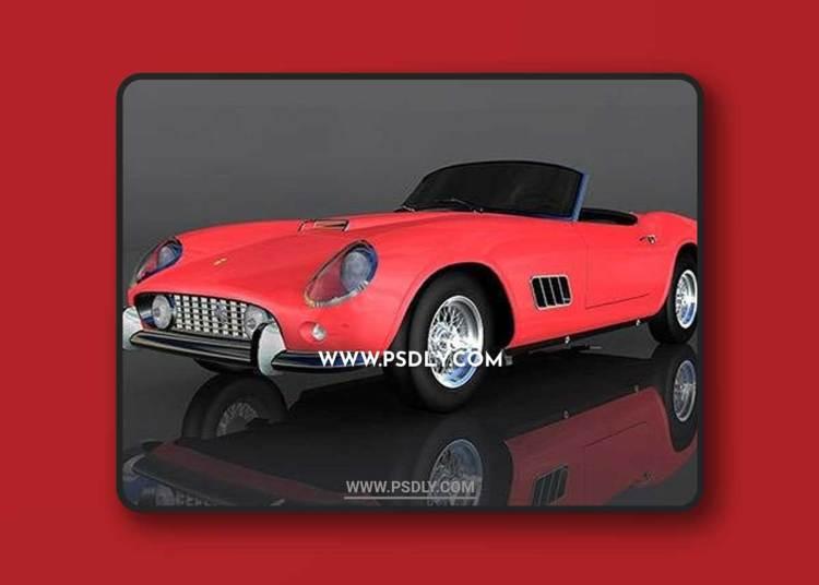 Ferrari 250 California 1957 3D Model o93633