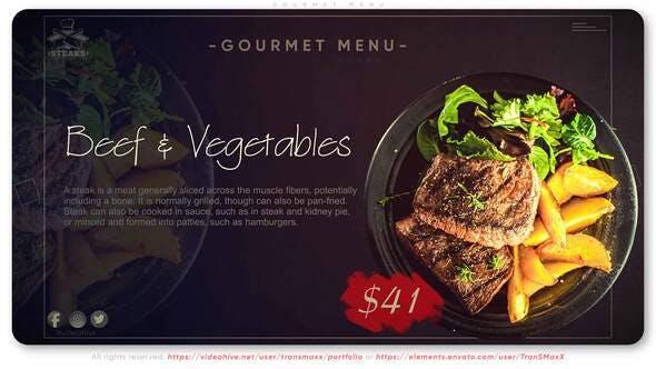 Videohive Gourmet Menu 34182014